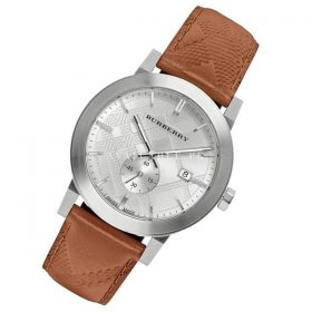 Burberry Men's Swiss Chronograph Brown Leather Strap BU9904