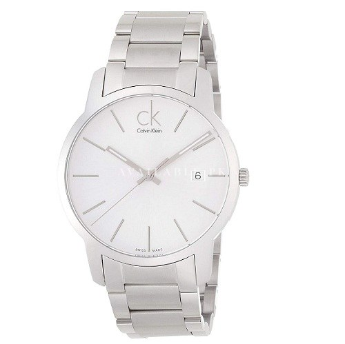 Calvin Klein Stainless Steel Dial color SilverK 2G2G146 City Silver Watch