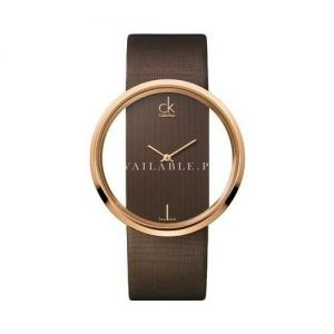Calvin Klein Ladies brown leather Watch Glam round K9423303