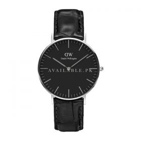 Product specifications Watch Information Brand Name Daniel Wellington Model number DW00100147 Part Number DW00100147 Model Year 2018 Item Shape round Dial Window Material Type Mineral Display Type Analogue Clasp Type Buckle Case Material Stainless steel Case Diameter 35.3 millimetres Case Thickness 6 millimetres Band Material Leather Band Length unisex Band Width 0.7 inches Band Colour Black Dial Colour black Bezel Material Stainless steel Bezel Function stationary Weight 36 Grams Movement Quartz Water Pressure Resistance 3 bar
