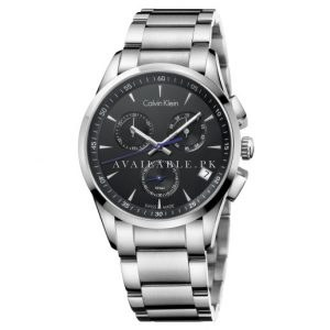 Calvin Klein Mens BOLD Chronograph Analog Watch K5A27141
