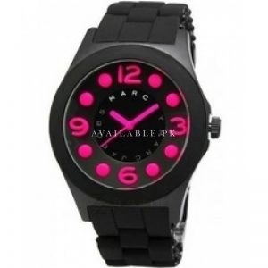 Product specifications Watch Information Brand, Seller, or Collection Name Marc Jacobs Model number MBM2517 Part Number MBM2517 Item Shape ROUND Dial window material type Mineral Display Type Analog Case diameter 45 Band Material STAINLESS STEEL AND SILICONE Band width 22 Band Color BLACK Dial color DIAL Movement Quartz Water resistant depth 3