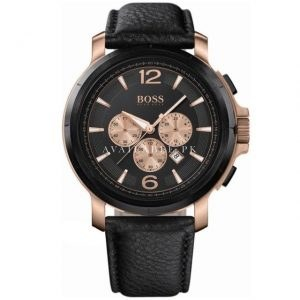 Hugo Boss HB-1512457 Mineral Men's Watch Round Black Dial
