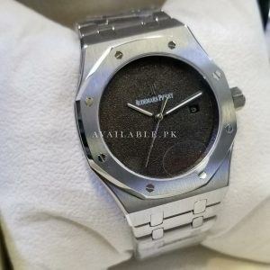 Audemars Piguet Silver & Black Dial Swiss Automatic Men Watch Price in Pakistan
