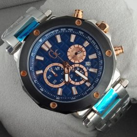 Guess Gc-3 Men's Chronograph Blue Calfskin Quartz Watch X72025G7S Price In Pakistan
