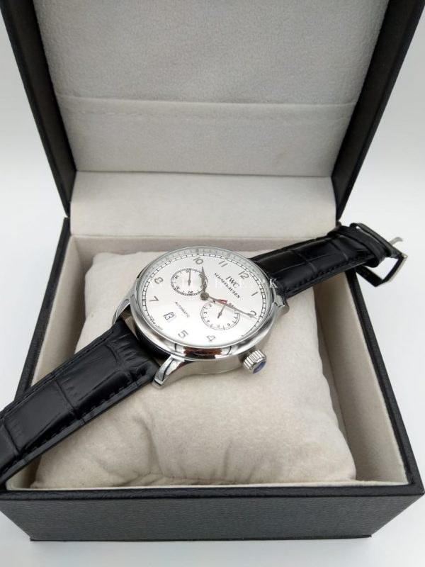 IWC Chronometer Automatic White DIal Men's Watch Date