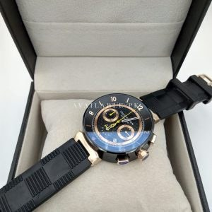 Louis Vuitton Black Rose Gold Tambour LV277 Men Watch Price In Pakistan