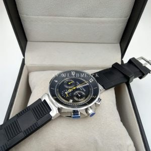 Louis Vuitton Black Silver Bezel Tambour LV277 Men Watch