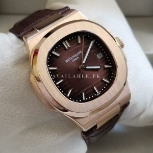 Patek Philippe Nautilus Brown Dial Belt Automatic Men's Watch Price In Pakistan
