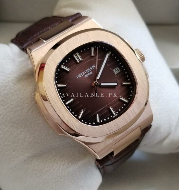 Patek Philippe Nautilus Brown Dial Belt Automatic Men's Watch High Quality