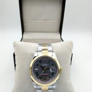 Rolex Air King Two Tone Date Just Men's Watch