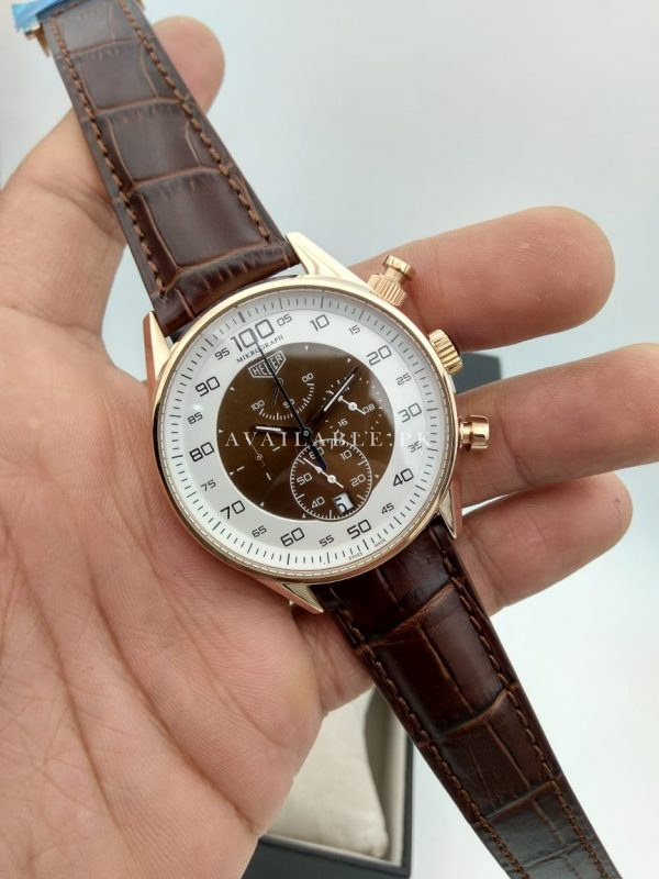 Tag Heuer 100 MicroGraph Brown Belt Chronograph Men's Watch Price In Pakistan