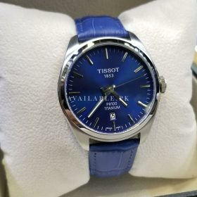 Tissot PR100 Blue Dial and Leather Belt Men Watch Price In Pakistan
