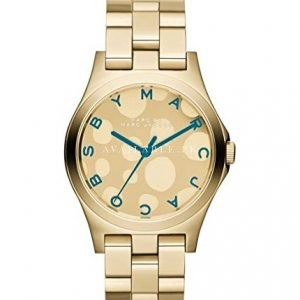 Marc Jacobs Henry Dot Blue Gold Tone Womens Watch MBM3267