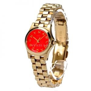 Marc Jacobs Henry Dinky Gold Tone Women's Watch - MBM3202