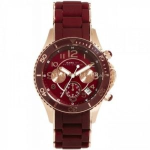 Marc Jacobs MBM2596 Women's Maroon Silicone Stainless Steel