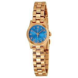 Marc Jacobs Henry Blue Dial Stainless Steel Ladies Watch MBM3204