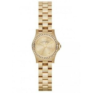 Marc Jacobs Crystal & Goldtone Stainless Steel Logo Watch - Gold