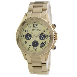 Marc Jacobs Rock Metal Chronograph Gold Mens Watch MBM3158