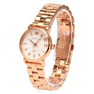 Marc Jacobs Baker White Dial Rose Gold Ladies Watch MBM3248