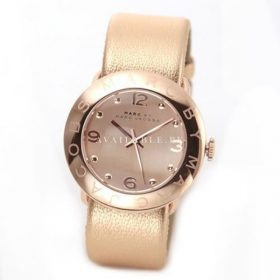 Marc by Marc Jacobs MBM8628 Amy Rose Gold Leather Watch