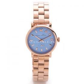 March Jacobs Baker Mini Rose Gold Tone Blue Dial Watch