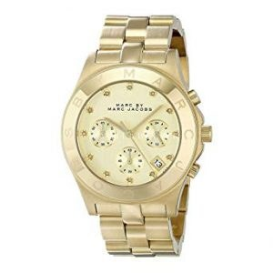 Marc Jacobs MBM3101 – Watch For Women With Steel Strap Gold/Grey