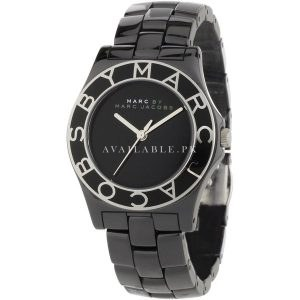 Marc Jacobs Women's MBM9501 Blade Ceramic Black Dial Watch