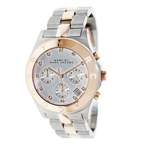 Marc Jacobs Chronograph Silver Dial Two-tone Ladies Watch MBM3178