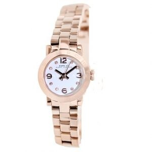 Marc Jacobs Dinky White Dial Rose Gold-tone Ladies Watch MBM3227