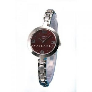 Tissot Steel Bracelet Red Dial Woman's watch #T003.209.11.377.00