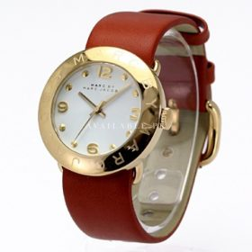 Marc Jacobs Women's MBM8574 Amy Gold-Tone Brown Leather Watch