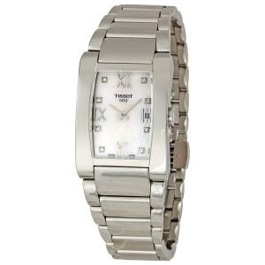 Generosi-T Mother of pearl Dial Ladies Silver-tone Watch
