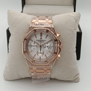 504cab913948 Audemars Piguet Chronograph Quartz RoseGold With Stones Mens Watch Price in  Pakistan