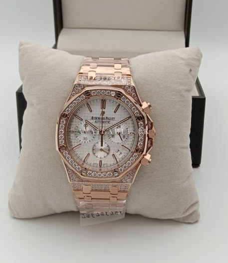 Audemars Piguet Chronograph Quartz RoseGold With Stones Mens Watch Price in Pakistan