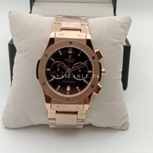 Hublot Classic Chronometer Black Dial All RoseGold Mens Watch Price In Pakistan
