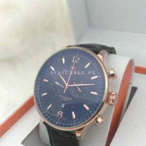 IWC Chronometer Black & Rose Gold Automatic Men's Watch Price In Pakistan