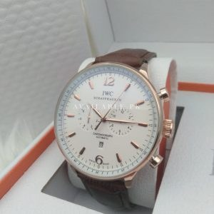 IWC Chronometer White Dial Rose Gold Automatic Men's Watch Price In Pakistan
