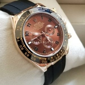 Rolex Daytona Brown Dial Pvc Belt Chronograph Automatic Watch Price In Pakistan