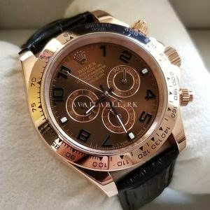 Rolex Daytona Brown Rose Gold Chronograph Automatic Mens Watch Price In Pakistan