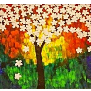 HSK Art - WHITE TREE | Genre: FIGURATIVE Wall Painting