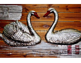 HSK Art - SWANS | Genre: CONTEMPORARY ART Painting