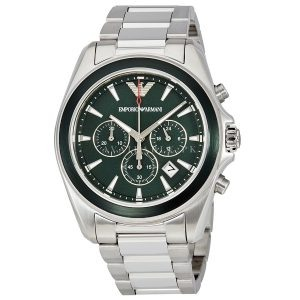 Emporio Armani Ar6090 Sigma Dark Green Chronograph Mens Watch Price In Pakistan