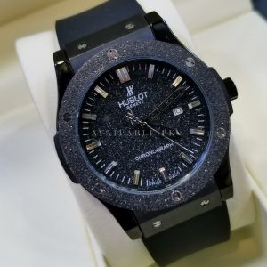 Hublot Big Bang Black Spark Glitter Bezel Men Watch Price In Pakistan