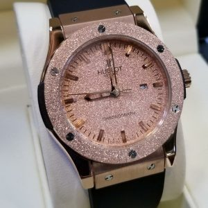 Hublot Big Bang Rose Gold Spark Glitter Bezel Men Watch Price In Pakistan