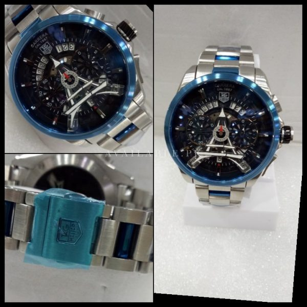 Tag Heuer Carrera Cal 1887 Chronograph Blue Dial Men Watch Price In Pakistan