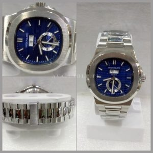 Patek Philippe Nautilus Blue Dial Automatic Day Date Mens Watch Price In Pakistan