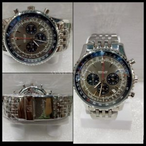 Breitling Silver And Grey Chronograph Men Watch Price In Pakistan