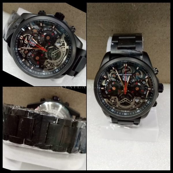 Tag Heuer Calibre 35 Skeleton Matte Black Men Watch Price In Pakistan