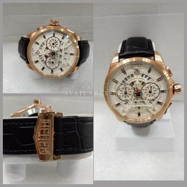 Tag Heuer Carrera Eiffel Tower Edition White Rose Gold Men Watch Price In Pakistan